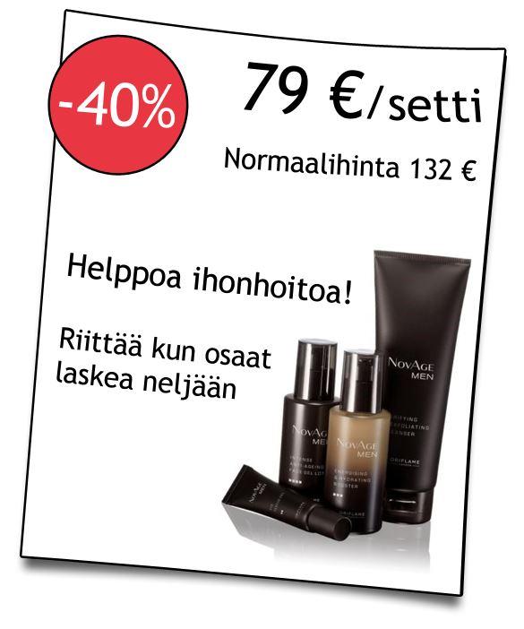 NovAge MEN ihonhoitotuotteet